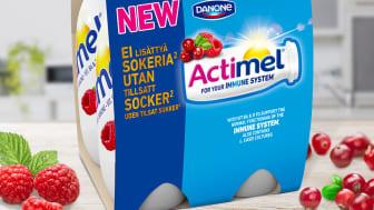 Actimel Hallon tranbär utan tillsatt socker