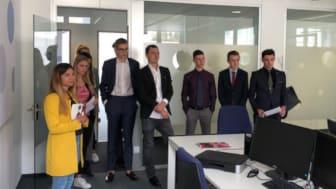 Interessenten des Globe Business College Munich zu Besuch bei stellenanzeigen.de.