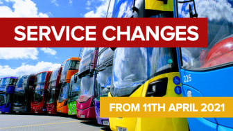 Service changes from 11th April