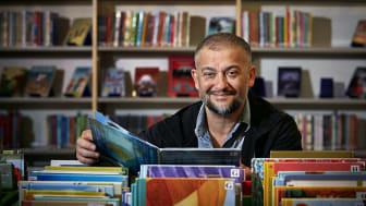 Bagir Kwiek, läsambassadör Kulturrådet, medverkar i Bokmässans biblioteksprogram. / Foto: Anna von Brömssen.