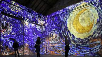"""Kunstkraftwerk Leipzig - Blick in die Ausstellung """"Van Gogh experience"""" - Foto Andreas Schmidt"""