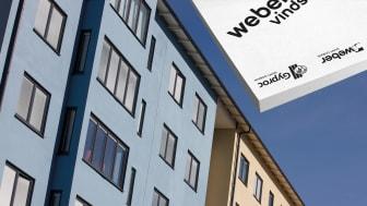 Webertherm 500 vindskyddsskiva ingår i Webers certifierade fasadsystem Serporoc