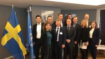Tillsammans med fem andra svenska företag, inbjudna av Business Sweden, träffade Optidev tre av FN:s organisationer i Rom.