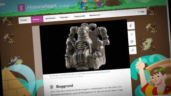 Folkeskoleelever på mellemtrinnet kan nu blive klogere på Danmarks tidligste konger i Lejre i læringsuniverset Clio. Illustration: Clio