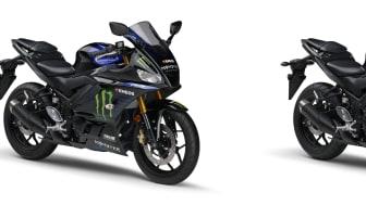 (左)「YZF-R3 ABS」 Monster Energy Yamaha MotoGP Edition  (右)「YZF-R25 ABS」Monster Energy Yamaha MotoGP Edition