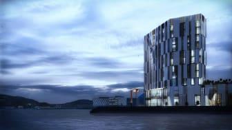 SIGNALBYGG I HARSTAD: Nordic Choice Hotels dobler hotelltilbudet i Harstad med et nytt Quality Hotel i Nord-Norges kulturhovedstad.