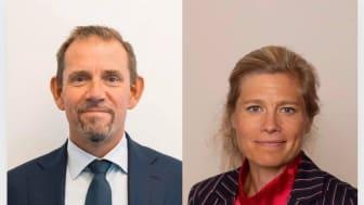 Nuvarande CEO Clas Lindbergson, och kommande Cecilia Bröms-Thell