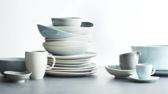 Three new colours for Junto collection by Rosenthal: Opal Green, Aquamarine and Alabaster.
