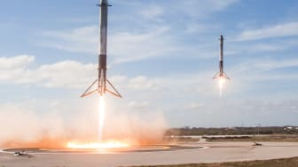 If rockets can be reused, then a lot of other things should be too!  SpaceX became the first company to launch a resupply mission to the International Space Station on a reused rocket.  (Photo by SpaceX)
