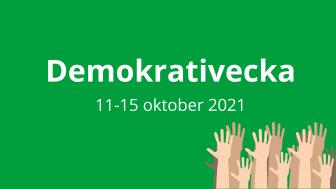 Presstips: Demokrativecka i Alvesta 11-15 oktober