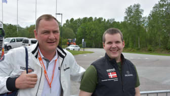Coach Henrik Holm, Scania Driver Academy og Alexander Straun, Scania Driver Competitions Europa finale 2018-2019