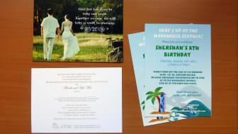 Unique Invitations: Wedding, Birthday, Party, Baby Announcement