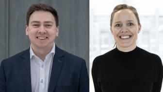 """Marius Jablonskis, teknologisjef i Norconsult, og Cathrine Mørch, digitaliseringsdirektør i Sweco Norge, har vært de norske representantene i utarbeidelsen av paperet """"Good Data for the Public Good""""."""