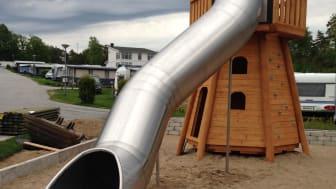 6 meter lång och 4 meter hög - nya rutschkanan på Daftö Resort