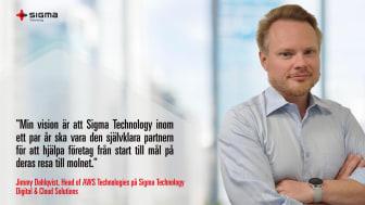 Jimmy Dahlqvist, Head of AWS Technologies på Sigma Technology Digital & Cloud Solutions