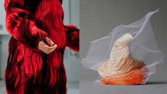 Global Nomad av Amanda Borgfors Mészàros (Röster som håller) och Pushing Embroidery av Emilia Elfvik (Ung Svensk Form 2020)
