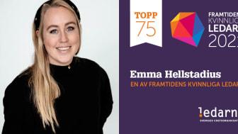 Emma Hellstadius tar plats på Ledarnas lista över framtidens kvinnliga ledare