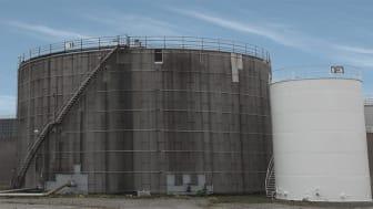 Cisternerna där Sysav tar emot vattnet.