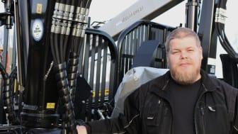 Simon Nygren kommer köra under demovisningen på Agritechnica.