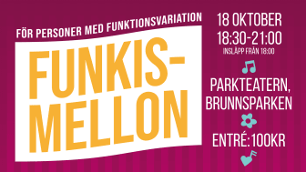 Den 18 oktober är det dags för sjätte upplagan av Funkismello i Brunnsparken.