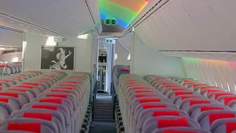 Norwegian Boeing 787 Dreamlinerin sisätilat