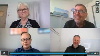 Karin Thalén, Georg Engel, Daniel Forslund och Henrik Cederqvist i ett samtal om digitalisering och innovation.