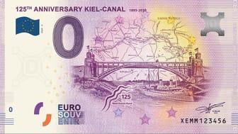 New Kiel zero-euro-note for the 125th anniversary of the Kiel Canal