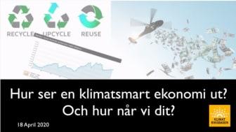 Nu finns vårt seminarium om en klimatsmart ekonomi på YouTube!