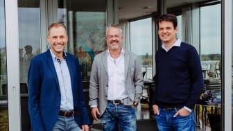 Die Führungsspitze der Fressnapf-Gruppe: v.l. Geschäftsführer Dr. Hans-Jörg Gidlewitz, Unternehmensgründer und -inhaber Torsten Toeller, Geschäftsführer Dr. Johannes Steegmann (Foto: Fressnapf Holding SE)