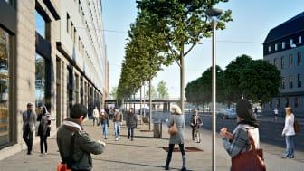 Inbjudan till första spadtaget för nya träd på Vasagatan