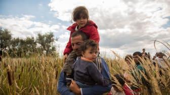 Människor på flykt längs balkanrutten. Foto: Olmo Calvo/MdM