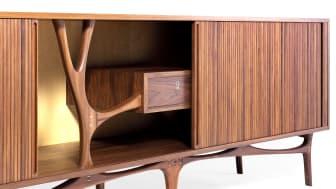 Kristian Rosendahl Strunge: A unique, freestanding sideboard . Sold for DKK 62,000