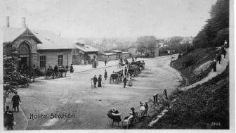 Holte Station år ca. 1900