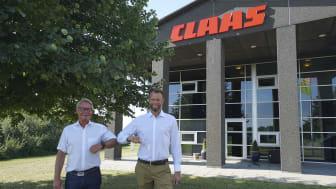 Direktør Michael Husfeldt og ny servicechef Arne Spejlborg (th).