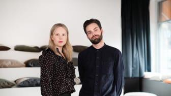 """Ellen Simonsson & Alexander Gösta, två av författarna till """"Databaserad stadsplanering"""""""