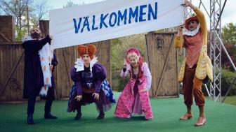 Jörgen Düberg, Maria Kulle, Lisa Larsson och Nils Dernevik medverkar i Stora drömmar. Fotograf: Micke Sandström