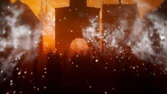 Byens dramatiske historie kan opleves på Roskilde Museum fra lørdag den 7. oktober. Illustration fra udstillingsdesignet: Dear Brand