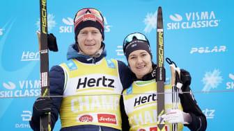 Peter Eliassen ja Britta Johansson Norgren voittivat Visma Alp Trophy -kilpailun