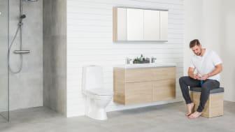 Miehille on tärkeää, että kylpyhuone on toimiva ja käytännöllinen.