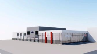 Nye Toyota Sortland: Til neste år på denne tida skal Toyota Nordvik ha flyttet inn i sitt nye, etterlengtede bygg på Sortland.