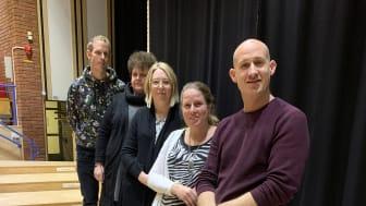 Rektorerna för skolorna i Hedemora kommun från vänster Linus Eriksson, Ann Eriksson, Linda Svedlund, Sofia Östman och Rikard Floridan.