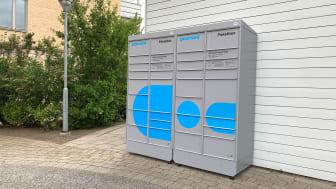 Paketbox på HSB Skånes hyresfastighet Klostervallen i Lund