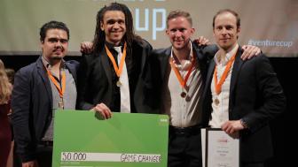 Woshapp vann priset Game Changer i Venture Cup Östs regionfinal. Foto: Victor Ackerheim