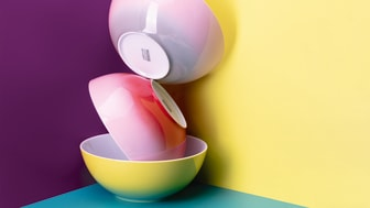 Thomas BeColour offers twice the amount of bright tones with four different decor variations.