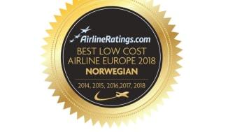 Norwegian vuelve a ser reconocida como 'Mejor Low-Cost en Europa' por AirlineRatings.com
