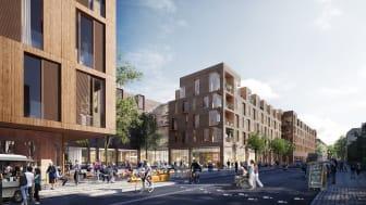 Det nye Sølund bliver en integreret del af bydelen og åbner sig op mod Ryesgade.