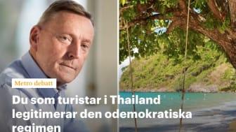 Bokfabriken-författare i Metro Debatt: Går det att turista i Thailand med gott samvete?