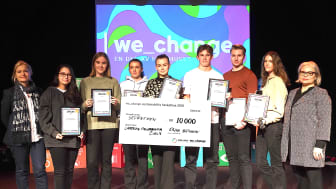Seventeen från Campeon Frigymnasium i Helsingborg vinnare i we_change sustainability hackathon 2019