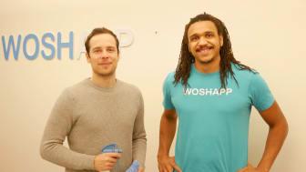 Woshapp-grundarna Jens Karlsson och Marc Owuya