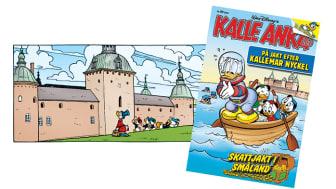 Serieruta på Kalmar Slott och omslag till Kalle Anka & C:o nr 48